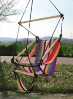 "Hanging chaise / chaise hamac ""Stripe"" 150 kg"